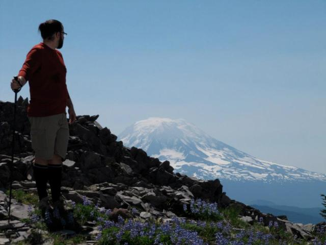sam pacific crest trail and mt adams