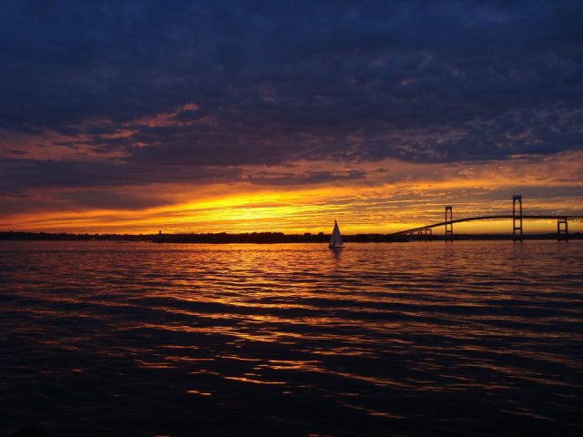 bev rhode island sunset