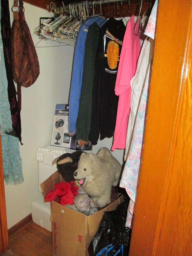 closet stuffed animals